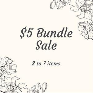 Bundle Sale on 3-7 items!